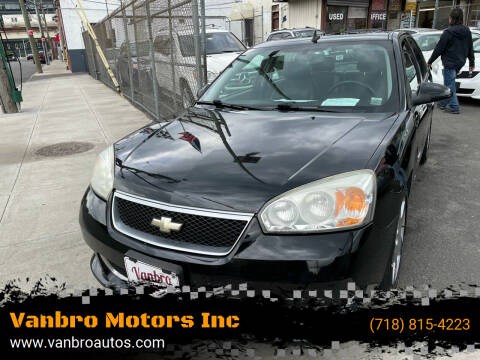 2007 Chevrolet Malibu for sale at Vanbro Motors Inc in Staten Island NY