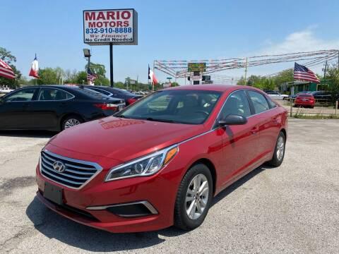 2017 Hyundai Sonata for sale at Mario Motors in South Houston TX