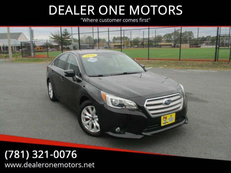 2016 Subaru Legacy for sale at DEALER ONE MOTORS in Malden MA