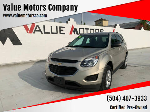 2016 Chevrolet Equinox for sale at Value Motors Company in Marrero LA