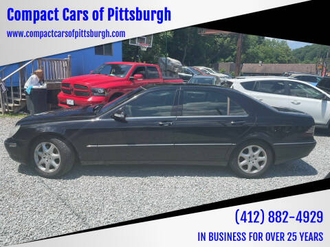 2003 Mercedes-Benz S-Class for sale at Compact Cars of Pittsburgh in Pittsburgh PA