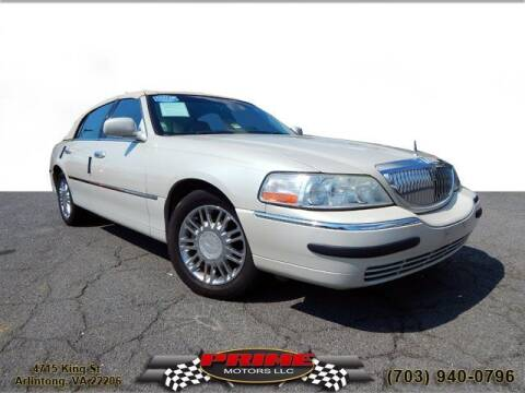 2007 Lincoln Town Car for sale at PRIME MOTORS LLC in Arlington VA