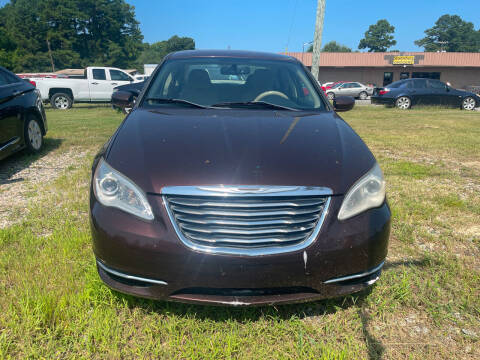 2013 Chrysler 200 for sale at A&J Auto Sales & Repairs in Sharpsburg NC