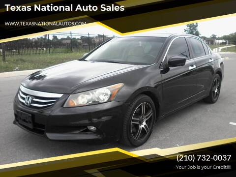 2012 Honda Accord for sale at Texas National Auto Sales in San Antonio TX