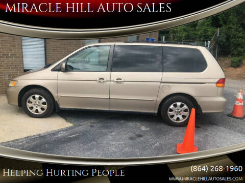 2002 Honda Odyssey for sale at MIRACLE HILL AUTO SALES in Greenville SC