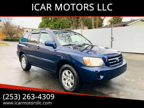 2004 Toyota Highlander for sale at ICAR MOTORS LLC in Federal Way WA