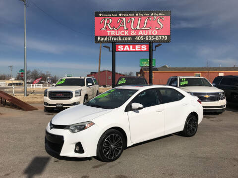 2014 Toyota Corolla for sale at RAUL'S TRUCK & AUTO SALES, INC in Oklahoma City OK