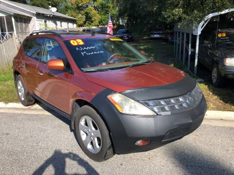 2003 Nissan Murano for sale at Castagna Auto Sales LLC in Saint Augustine FL