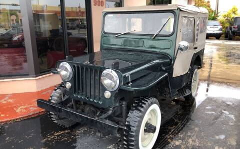 1952 Willys Jeep for sale at Global Motors in Hialeah FL