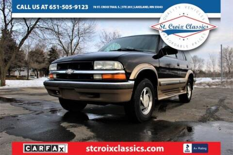 1999 Chevrolet Blazer for sale at St. Croix Classics in Lakeland MN