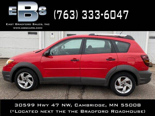 2003 Pontiac Vibe for sale at East Bradford Sales, Inc in Cambridge MN
