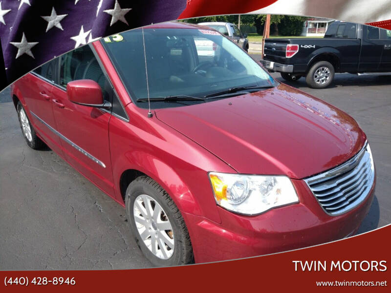 2013 Chrysler Town and Country for sale at TWIN MOTORS in Madison OH