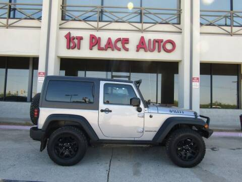 2016 Jeep Wrangler for sale at First Place Auto Ctr Inc in Watauga TX