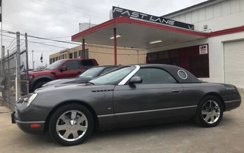 2003 Ford Thunderbird for sale at FAST LANE AUTO SALES in San Antonio TX