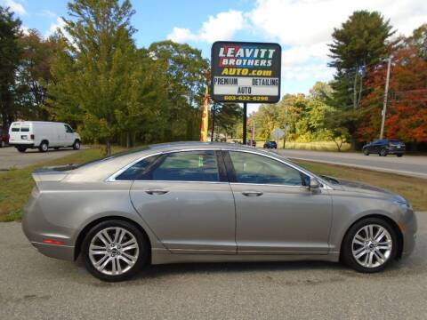 2015 Lincoln MKZ for sale at Leavitt Brothers Auto in Hooksett NH
