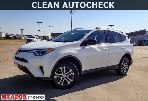 2016 Toyota RAV4 for sale at Meador Dodge Chrysler Jeep RAM in Fort Worth TX