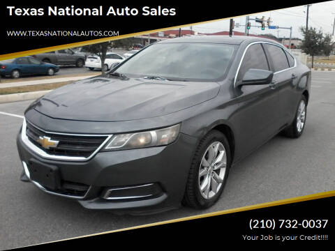 2014 Chevrolet Impala for sale at Texas National Auto Sales in San Antonio TX