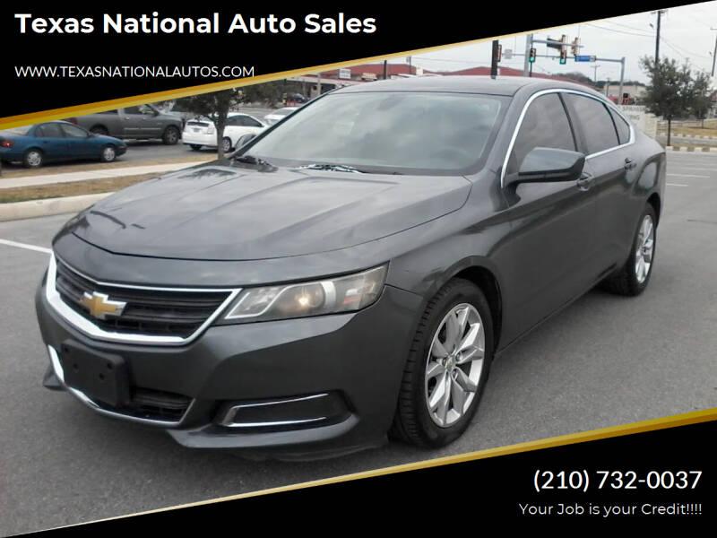 2014 Chevrolet Impala for sale at Texas National Auto Sales in San Antonio TX