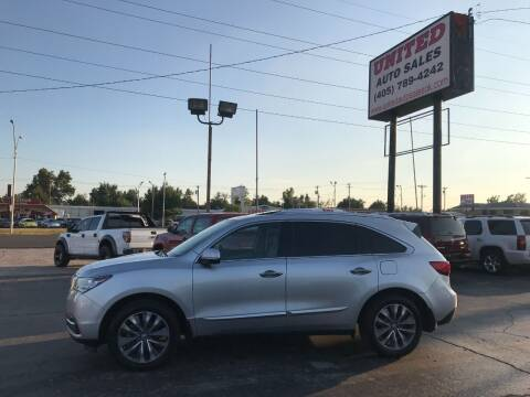 2014 Acura MDX for sale at United Auto Sales in Oklahoma City OK