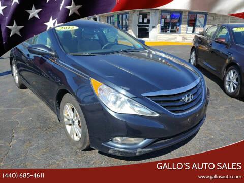 2013 Hyundai Sonata for sale at Gallo's Auto Sales in North Bloomfield OH