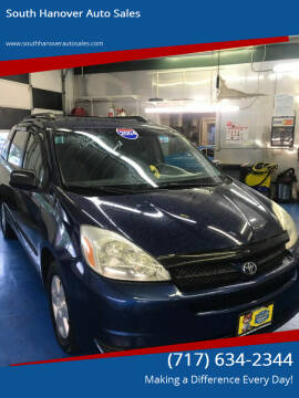 2004 Toyota Sienna for sale at South Hanover Auto Sales in Hanover PA
