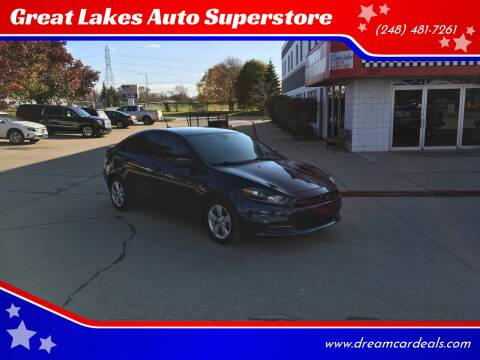 2016 Dodge Dart for sale at Great Lakes Auto Superstore in Waterford Township MI