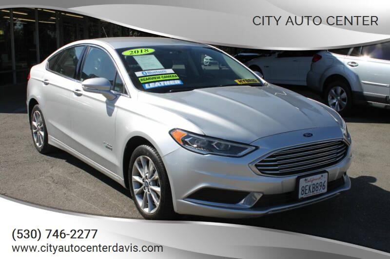 2018 Ford Fusion Energi for sale at City Auto Center in Davis CA