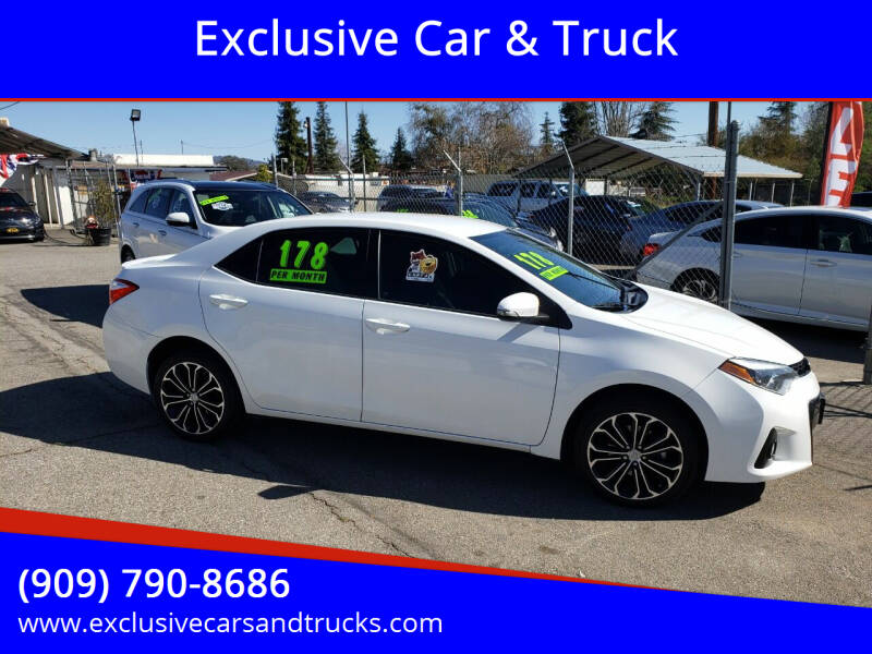 2016 Toyota Corolla for sale at Exclusive Car & Truck in Yucaipa CA