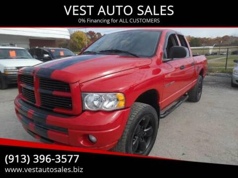 2003 Dodge Ram Pickup 1500 for sale at VEST AUTO SALES in Kansas City MO