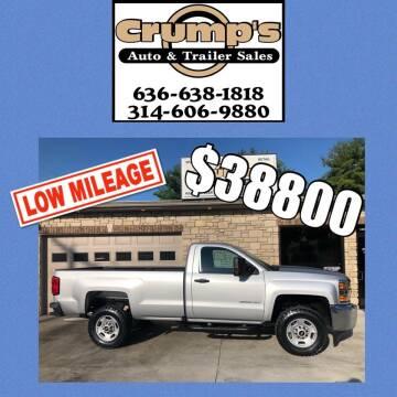 2016 Chevrolet Silverado 2500HD for sale at CRUMP'S AUTO & TRAILER SALES in Crystal City MO