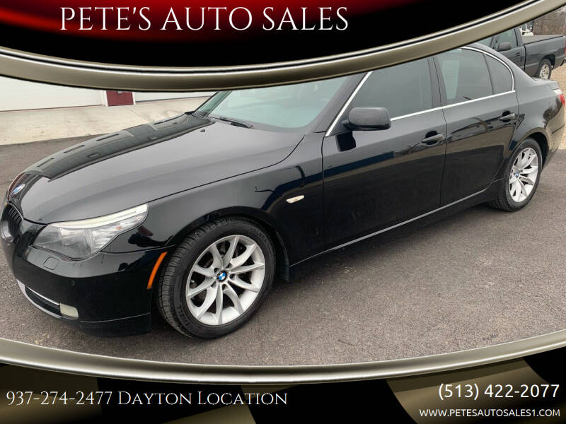 2008 BMW 5 Series for sale at PETE'S AUTO SALES - Dayton in Dayton OH
