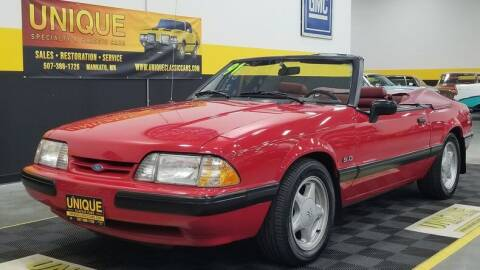 1991 Ford Mustang for sale at UNIQUE SPECIALTY & CLASSICS in Mankato MN