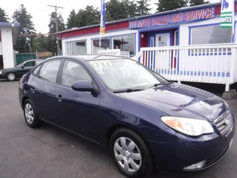2008 Hyundai Elantra for sale at 777 Auto Sales and Service in Tacoma WA