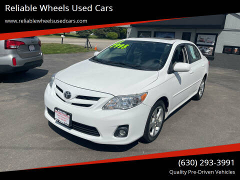 2011 Toyota Corolla for sale at Reliable Wheels Used Cars in West Chicago IL