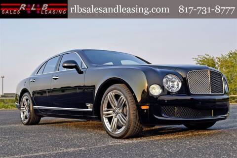 2013 Bentley Mulsanne for sale at RLB Sales and Leasing in Fort Worth TX