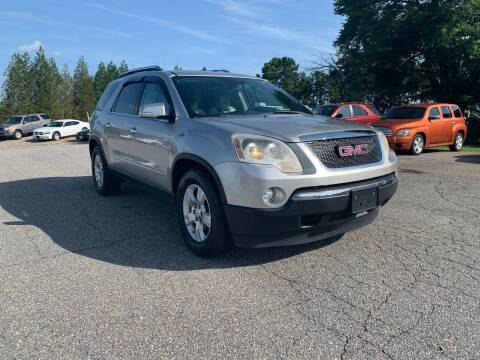 2007 GMC Acadia for sale at Hillside Motors Inc. in Hickory NC