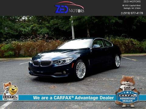 2015 BMW 4 Series for sale at Zed Motors in Raleigh NC