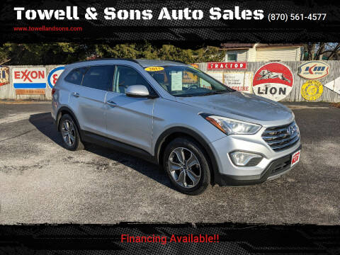 2013 Hyundai Santa Fe for sale at Towell & Sons Auto Sales in Manila AR