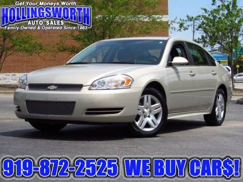 2012 Chevrolet Impala for sale at Hollingsworth Auto Sales in Raleigh NC