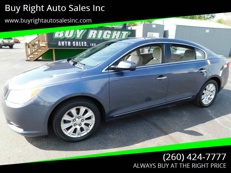 2013 Buick LaCrosse for sale at Buy Right Auto Sales Inc in Fort Wayne IN