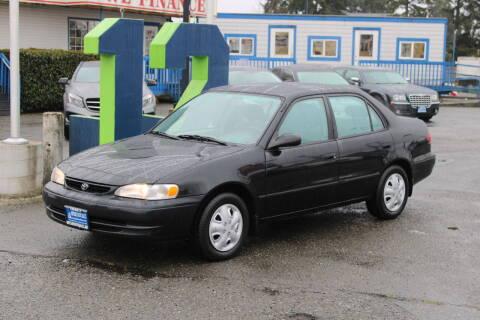 2000 Toyota Corolla for sale at BAYSIDE AUTO SALES in Everett WA