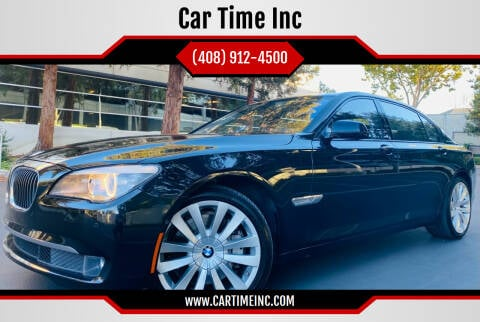 2012 BMW 7 Series for sale at Car Time Inc in San Jose CA
