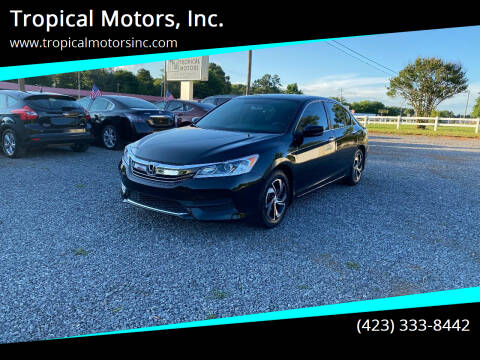 2017 Honda Accord for sale at Tropical Motors, Inc. in Riceville TN