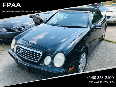 2003 Mercedes-Benz CLK for sale at FPAA in Fredericksburg VA