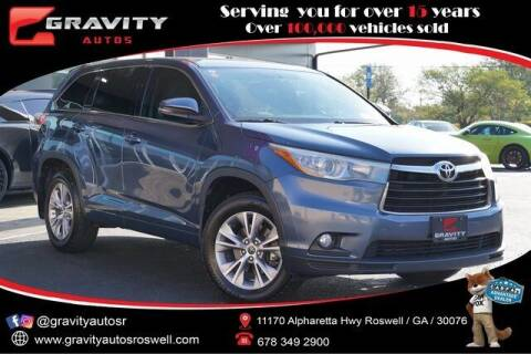 2016 Toyota Highlander for sale at Gravity Autos Roswell in Roswell GA