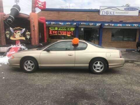 2005 Chevrolet Monte Carlo for sale at Duke Automotive Group in Cincinnati OH