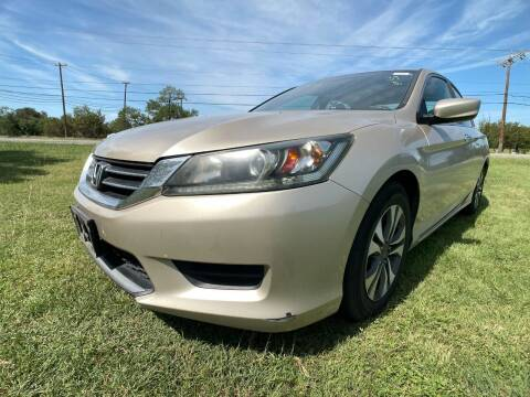 2013 Honda Accord for sale at Carz Of Texas Auto Sales in San Antonio TX