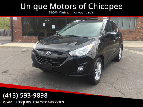 2013 Hyundai Tucson for sale at Unique Motors of Chicopee in Chicopee MA