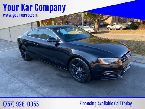 2013 Audi A5 for sale at Your Kar Company in Norfolk VA
