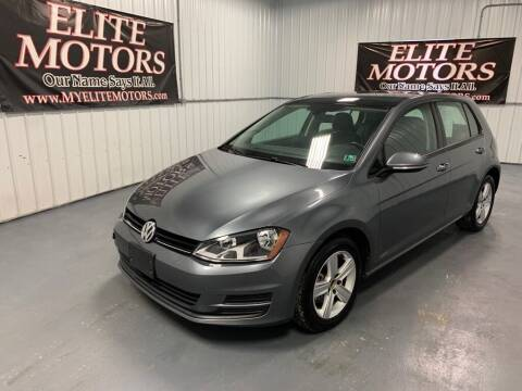 2017 Volkswagen Golf for sale at Elite Motors in Uniontown PA